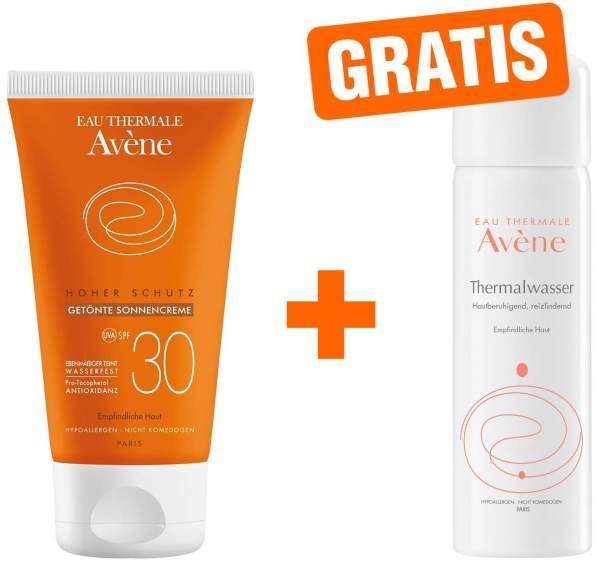 Avene hoher Schutz getönte Sonnencreme SPF 30 50 ml Creme + gratis Thermalwasser Spray 50 ml