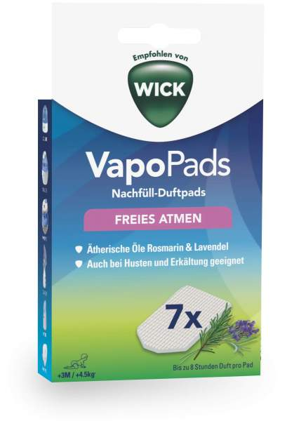 Wick Vapo Nachfüll-Pads Rosmarin-Lavendel Duft 7 Stück