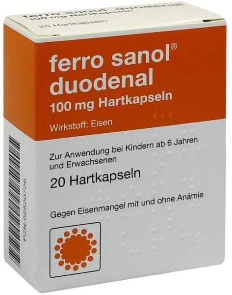 Ferro Sanol Duodenal 20 Hartkps. Mit Magensaftres. Überzogenen...
