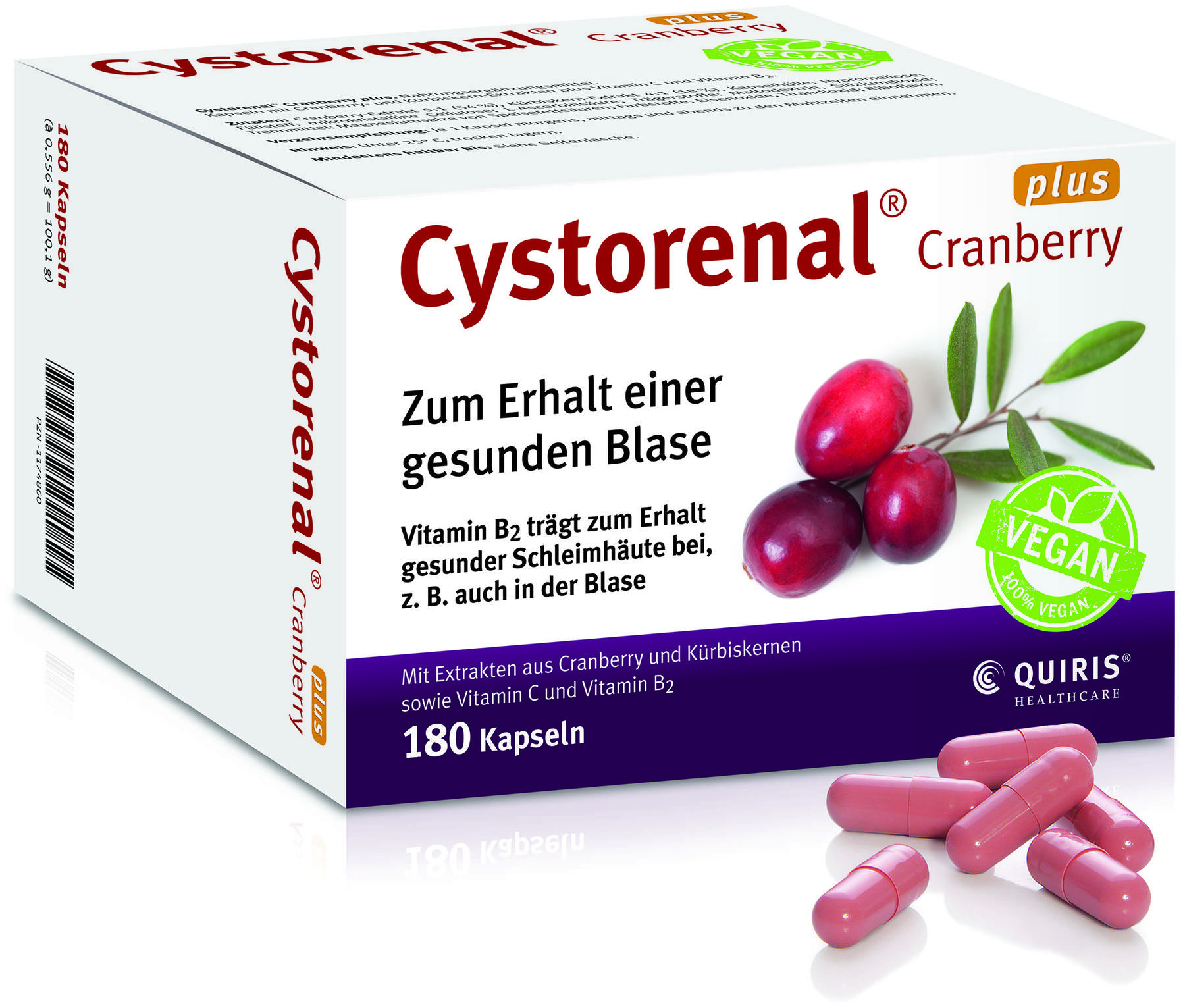 cystorenal plus cranberry 180 kapseln kaufen. Black Bedroom Furniture Sets. Home Design Ideas