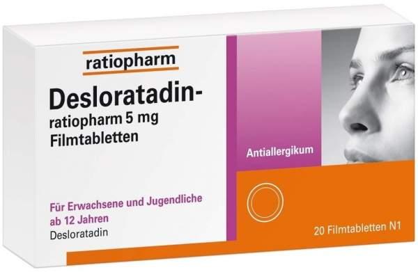 Desloratadin-ratiopharm 5 mg 20 Filmtabletten