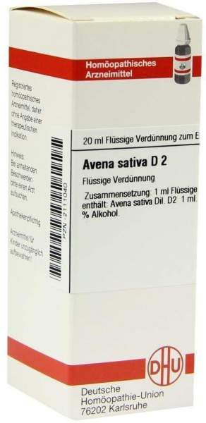 Avena Sativa D 2 20 ml Dilution