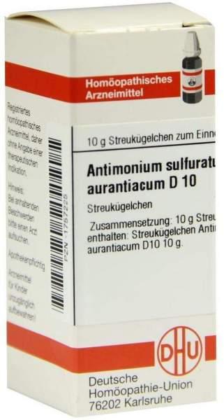 Dhu Antimonicum Sulfuricum Aurantiacum D10 Globuli
