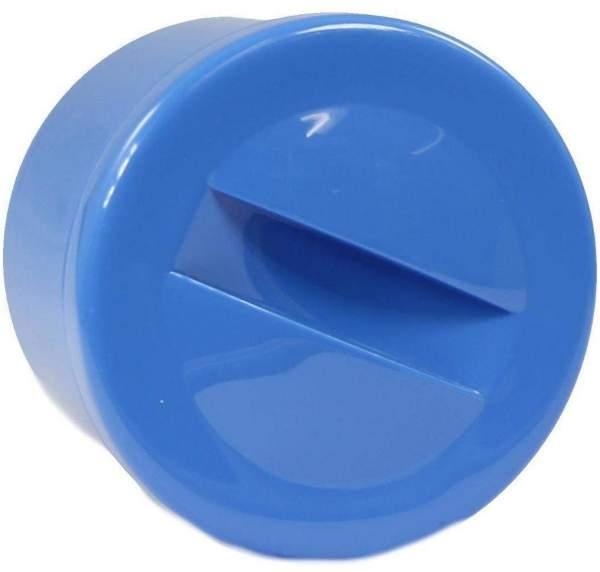 Prothesenbehälter Blau Kunststoff Mit Deckel 1 Stück