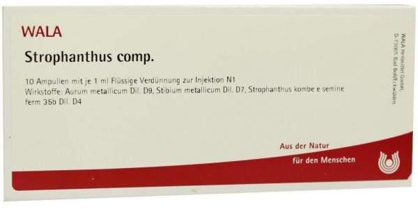 Strophanthus Comp. 10 X 1 ml Ampullen