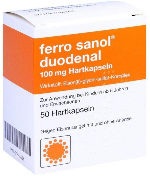 Ferro Sanol Duodenal 50 Hartkps. mit magensaftres. überzogenen Pellets