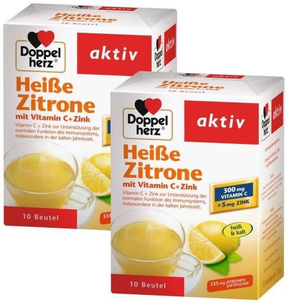 Doppelherz Heiße Zitrone Vitamin C + Zink Granulat 2 x 10 Beutel im Set