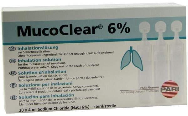 Mucoclear 6% Nacl Inhalationslösung 20x4 ml Inhalationslösung
