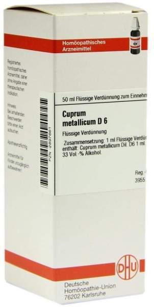 Cuprum Metallicum D 6 50 ml Dilution