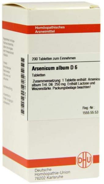 Arsenicum Album D6 200 Tabletten