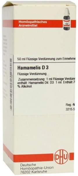Hamamelis D3 Dhu 50 ml Dilution