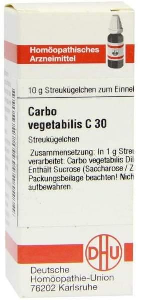 Carbo Vegetabilis C30 10 G Globuli