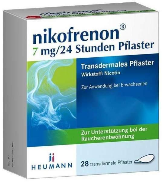 Nikofrenon 7 mg in 24 Stunden transdermale Pflaster 28 Stück
