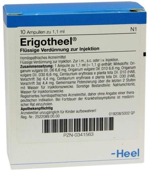 Erigotheel Ampullen 10 Ampullen