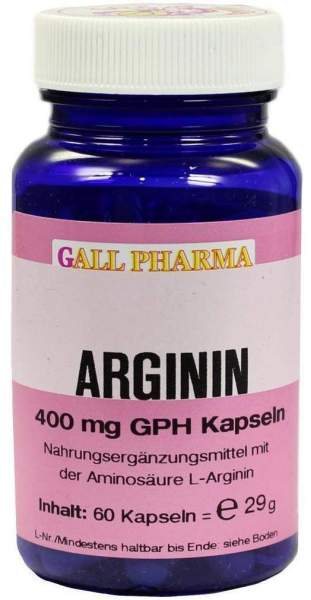 Arginin 400 mg Gph 60 Kapseln