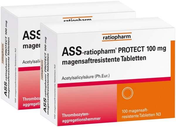 ASS-ratiopharm PROTECT 100 mg 2 x 100 magensaftresistente Tabletten