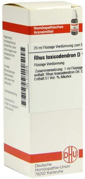Dhu Rhus Toxicodendron D12 20 ml Dilution