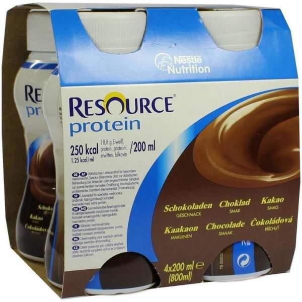 Resource Protein Schokolade Neue Rezeptur 4 X 200 ml Flüssigkeit