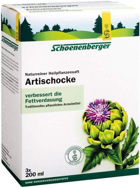 Artischocken Saft Schoenenberger 3 x 200 ml