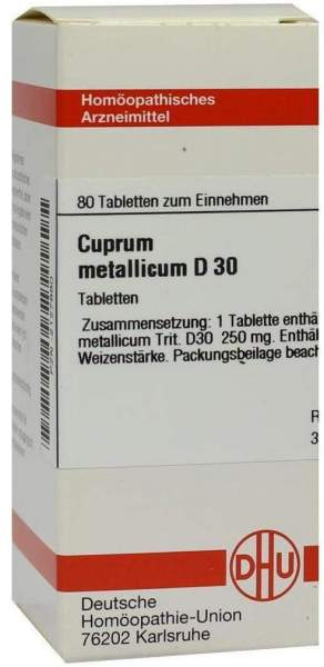 Cuprum Metallicum D30 80 Tabletten