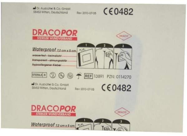 Dracopor Waterproof Wundverband Steril 5 cm X 7,2 cm 1 Verband