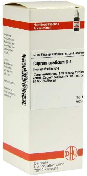 Cuprum Aceticum D4 50 ml Dilution