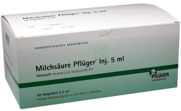 Milchsäure Pflüger Injektionslösung 50 Ampullen