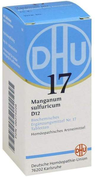 Biochemie Dhu 17 Manganum Sulfuricum D12 80 Tabletten