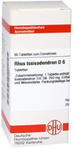 Rhus Tox. D 6 80 Tabletten