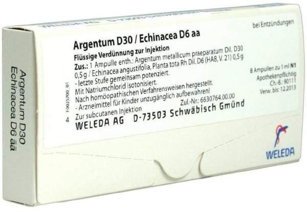 Argentum D30 Echinacea D6 aa Weleda 8 Ampullen