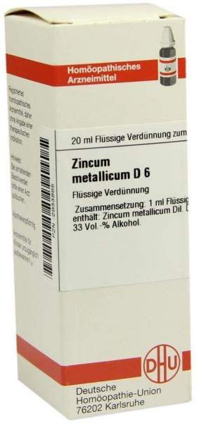 Zincum Metallicum D 6 20 ml Dilution
