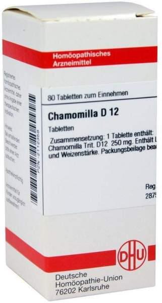 Chamomilla D 12 80 Tabletten