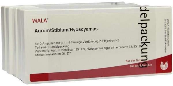 Wala Aurum Stibium Hyoscyamus Ampullen 50 X 1 ml