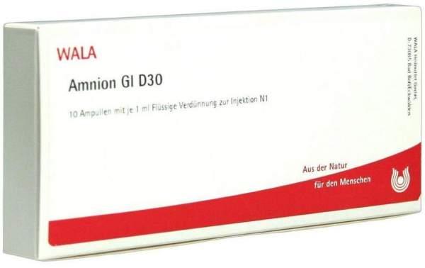 Amnion Gl D 30 Ampullen 10 X 1 ml