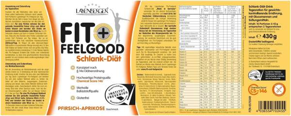 Layenberger Fit + Feelgood Slim Pfirsich Aprikose 430 G Pulver