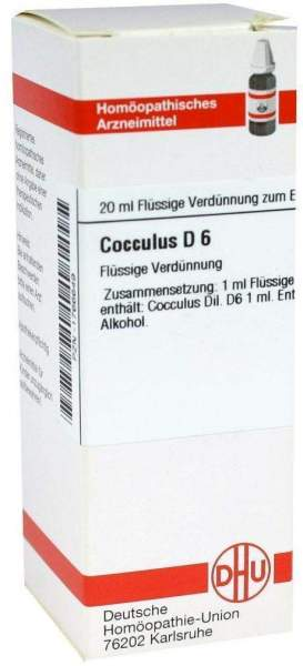 Dhu Cocculus D6 20 ml Dilution