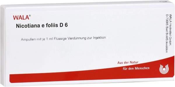 Nicotiana E Foliis D 6 Ampullen 10 X 1 ml