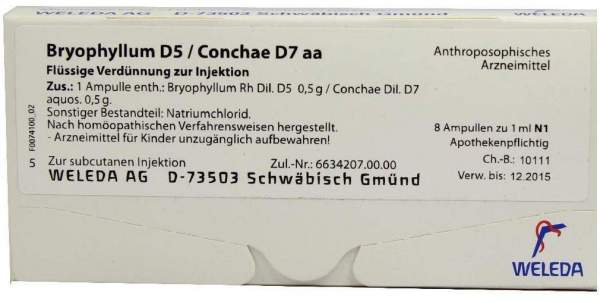 Bryophyllum D5 Conchae D7 aa Weleda 8 x 1 ml Ampullen