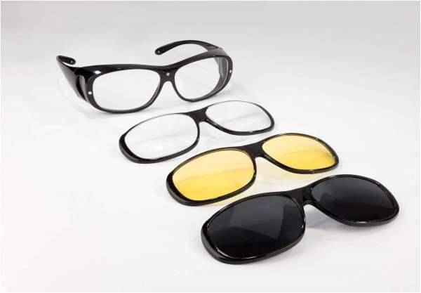 Big View Überbrille mit 3 Wechselrahmen, 1 Stück