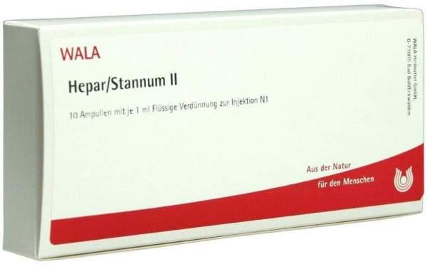 Hepar Stannum II 10x1 ml Ampullen