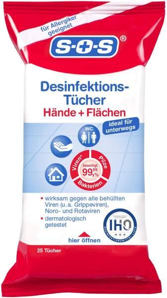 SOS Desinfektions-Tücher 25 Stück