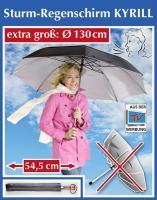 Sturm Regenschirm Kyrill