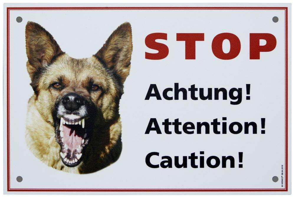 Warnschild Hund