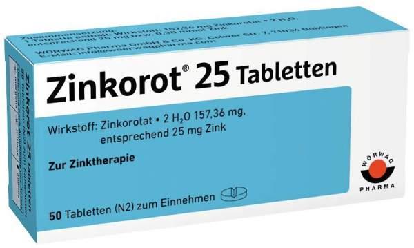 Zinkorot 25 50 Tabletten