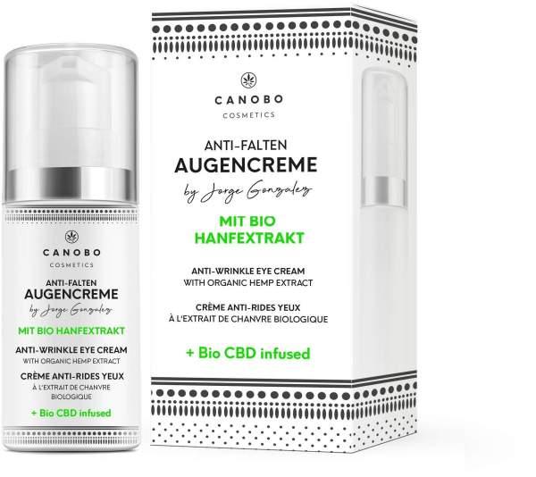 Canobo CBD Anti-Falten Augencreme mit Bio Hanfextrakt 15 ml