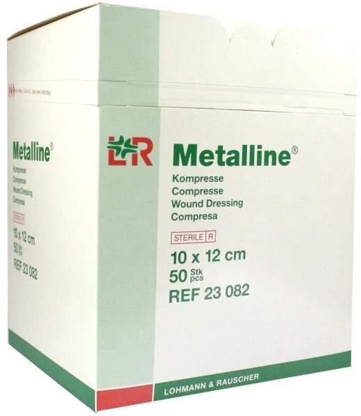 Metalline Kompressen 10 X 12 cm Steril 50 Stück