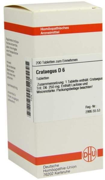 Crataegus D 6 200 Tabletten