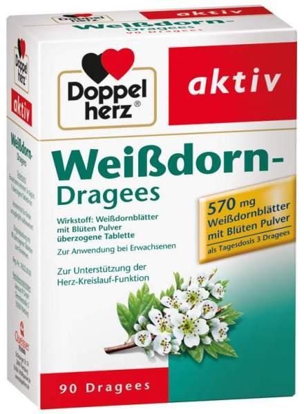 Doppelherz Weißdorn Dragees 90 Überzogene Tabletten