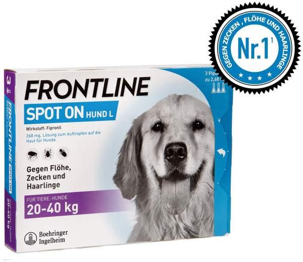Frontline Spot On Hund L 20-40kg 3 Lösungen