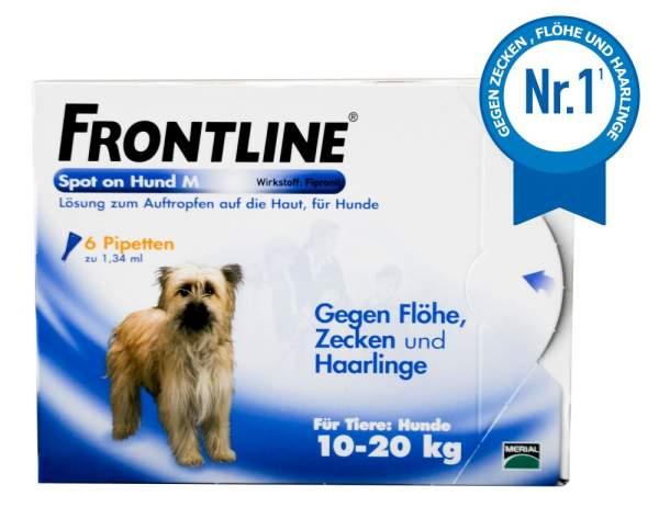 Frontline Spot On Hund M 10-20kg 6 Lösungen